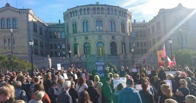 Protest w Oslo