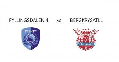 Mecz piłkarski Fyllingsdalen 4 z Bergkrystall