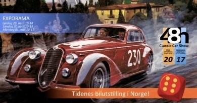 Wystawa samochodów klasycznych w Oslo