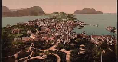 Zobacz, jak kiedyś wyglądało Ålesund