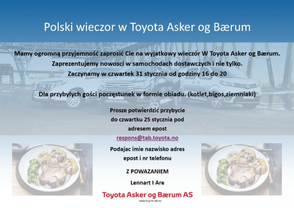 Polski wieczór w Toyota Asker