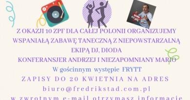 Jubileuszowy bal 10-lecia Związku Polaków we Fredrikstad