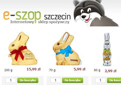 Słodycze dostępne w sprzedaży online.