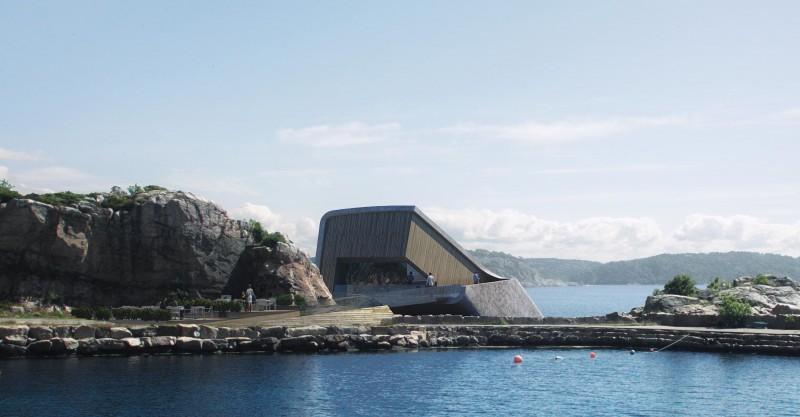 Projekt podwodnej restauracji Under w Norwegii.