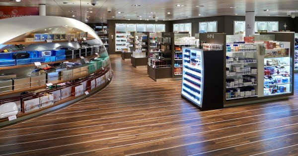 Tax Free Shop na pokładzie MS Stavangerfjord i MS Bergensfjord ma aż 500 m².