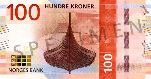 nowy norweski banknot 100-koronowy