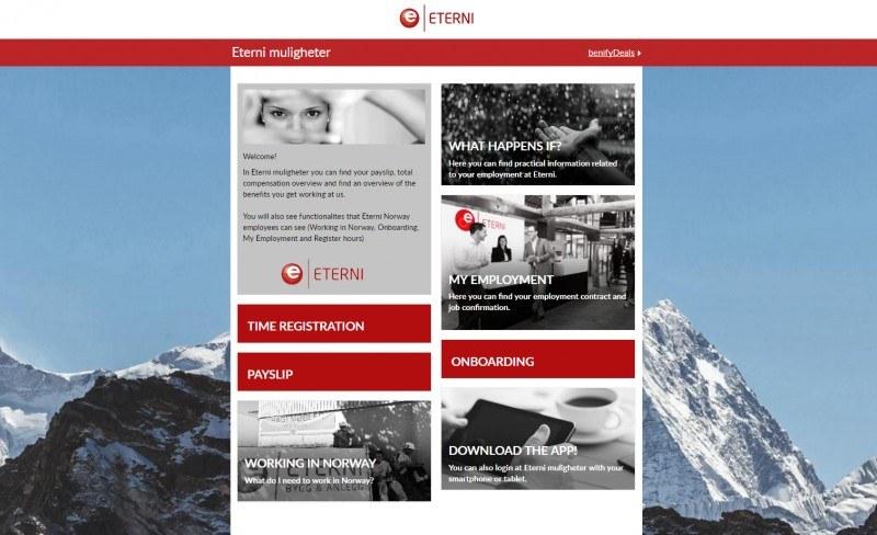 Podgląd strony Eterni, za pośrednictwem której można pobrać nową aplikację.