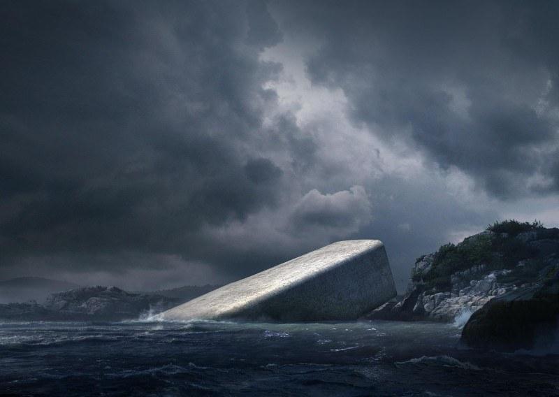 Podwodna restauracja w Norwegii.