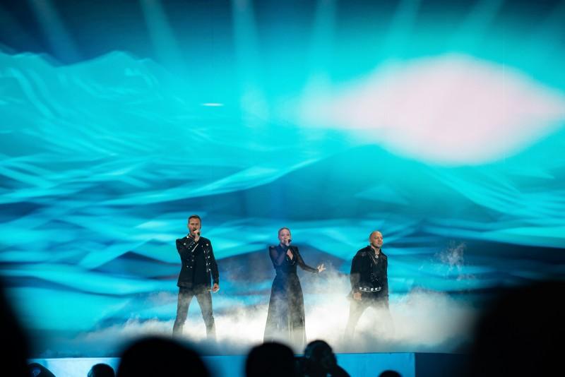 Zespół KEiiNO podczas finałowego występu na Eurowizji 2019.