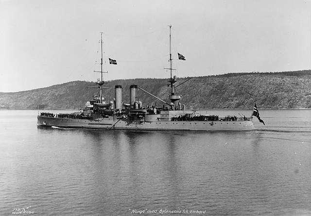 Pancernik Norge w 1910 roku