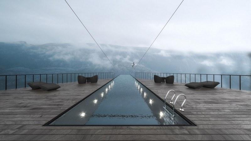 Cliff Conceptual Boutique Hotel: projekt hotelu na norweskim klifie Preikestolen.
