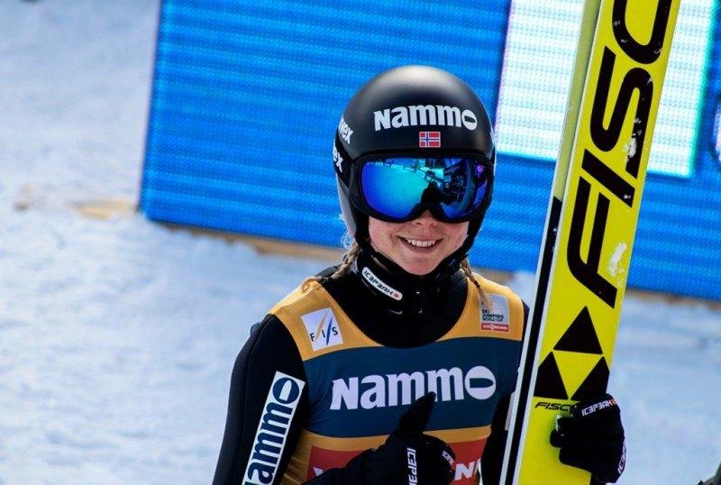 Maren Lundby podczas Pucharu Świata w Trondheim.
