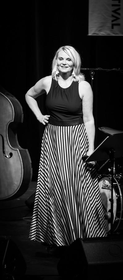Jurorka Mia Gundersen podczas występu na Oslo Jazzfestival w 2015 roku.