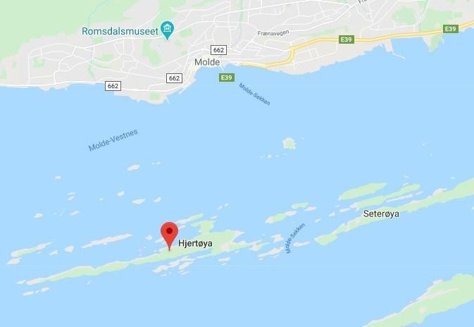 Z Molde na Hjertøya można się dostać promem.