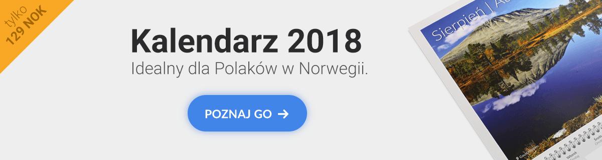 Kalendarz MojaNorwegia.pl 2018