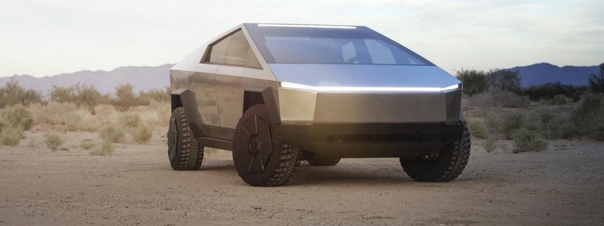 """Tesla zaprezentowała nowego elektrycznego """"cybertrucka"""". Jego wygląd zaskakuje"""