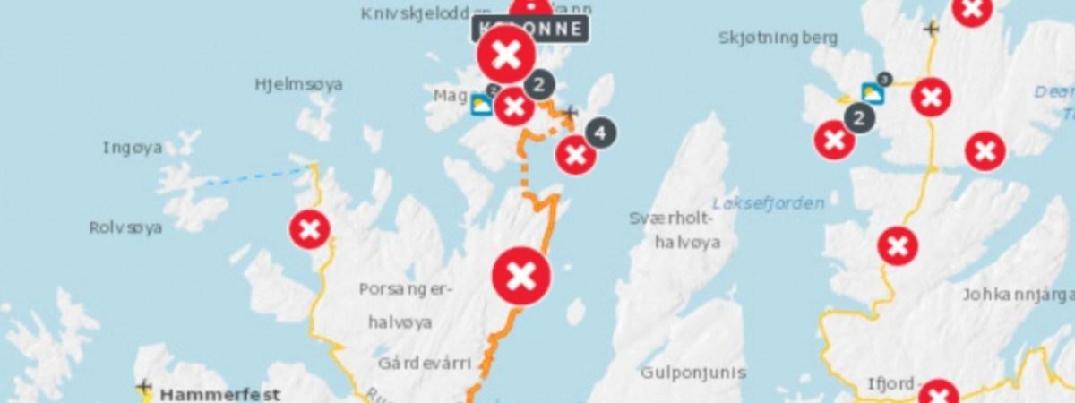 Zamiecie i pozamykane drogi. Ekstremalna zima znów nawiedza Norwegię [ALERT POGODOWY]