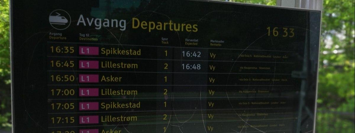 Pasażer się liczy: Bane Nor ułatwi sprawdzanie rozkładów jazdy