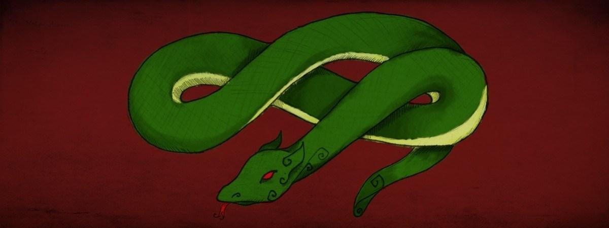 Nordycki zwierzyniec. Jormungand – wąż oplatający Ziemię