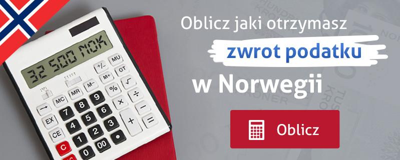 Oblicz jaki otrzymasz zwrot podatku w Norwegii