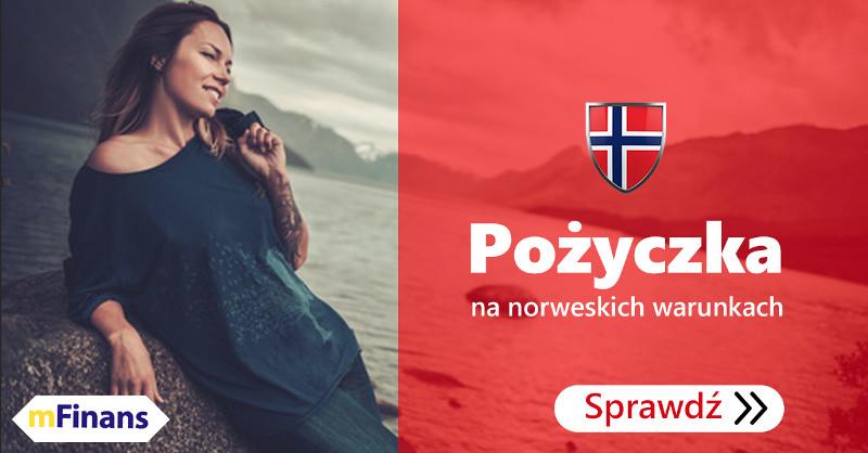 mFinans - Pożyczka: kwota do 50 000 NOK, darmowa obsługa po polsku, 12 norweskich banków w ofercie
