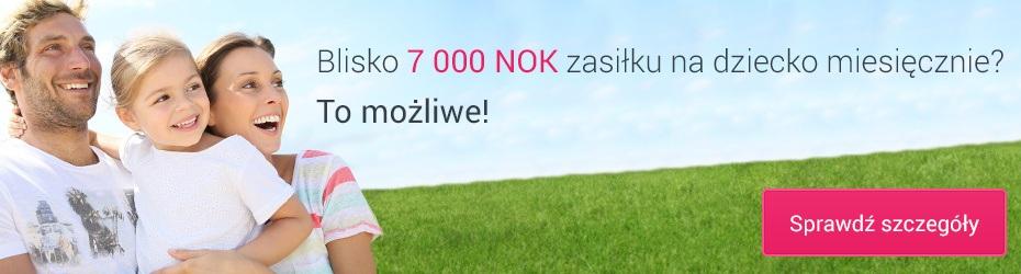 Blisko 7000 NOK zasiłku na dziecko miesięcznie? To możliwe. Sprawdź szczegóły.