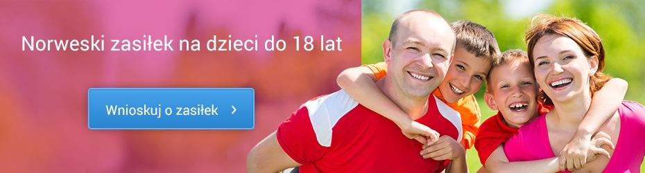 Norweski zasiłek na dzieci do 18 lat. Wnioskuj o zasiłek!