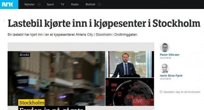 PILNE: ciężarówka wjechała w tłum w Sztokholmie. Są ofiary