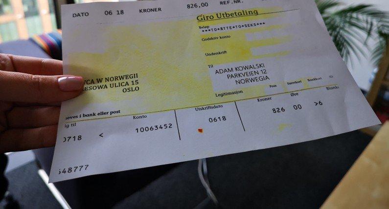 Czek ze zwrotem podatku z Norwegii: może się zgubić albo stracić ważność, ale są na to sposoby