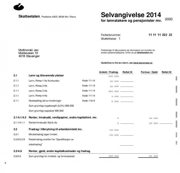 Selvangivelse 2014