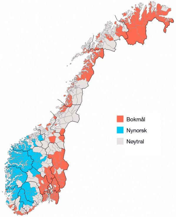 Odmiany pisane norweskiego