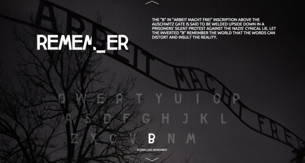 """Screen: Aplikację """"Remember"""" pobrać można bezpłatnie ze strony correctmistakes.auschwitz.org."""