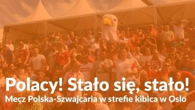 Polacy! Stało się, stało! Mecz Polska-Szwajcaria w strefie kibica w Oslo