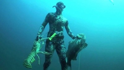 Spearfishing World Record Grouper and giant Lobsters