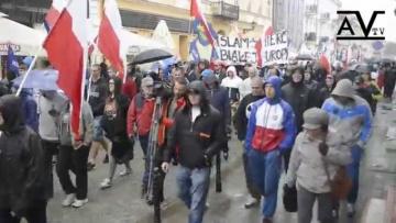 Demonstracja Płock Przeciwko Imigrantom 20.09.2015 r.