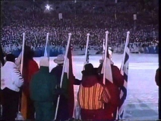 Stein Gruben - jump with Olympic Flame - Lillehammer 1994