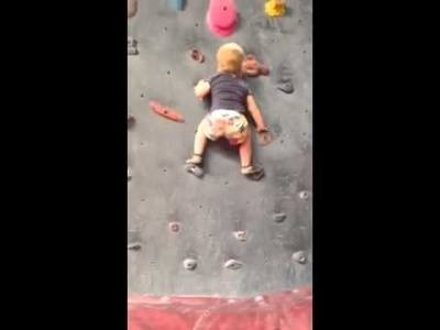 19 months  Rock Climbing Toddler