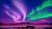 Relax Music & Stunning Aurora Borealis - Northern Polar Lights - 2 Hours -  HD 1080P