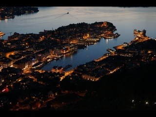 Bergen by night - timelapse (from sunset to sunrise)