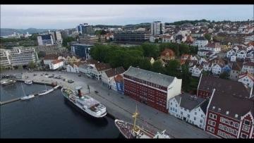 Pittbull drone Pilot Stavanger Centrum z lotu ptaka