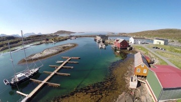 Ruffe Sailing in North Norway, amazing Støtt Island from bird view