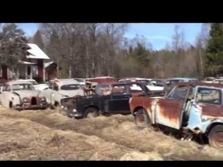 Cmentarzysko samochodów - Szwecja