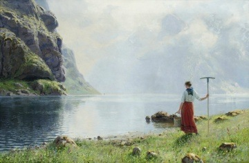 Art: Hans Dahl, Norwegian painter (1849-1937) ~ Edward Grieg (Peer Gynt)