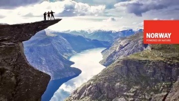 Hiking to The Troll's Tongue, Fjord Norway