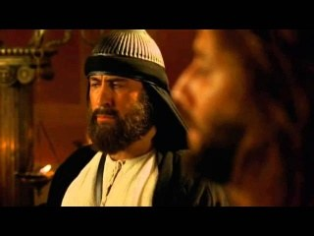 Ewangelia wg Św  Jana - Przed Annaszem. Zaparcie się Piotra