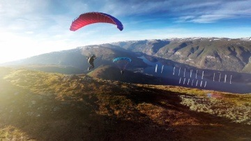 My Silver Line // speedflying in Aurland // Swing Spitfire2 - 2015