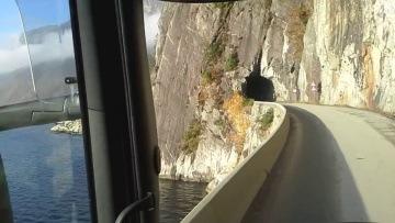 Ciezarowka Norwegia , piekne widoki  ,  Scania