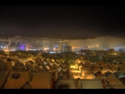 Amazing Norway time-lapse: Fog disappearing the city center like magic