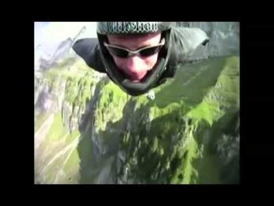 Amazing (wingsuit) Base Jump in Switzerland!