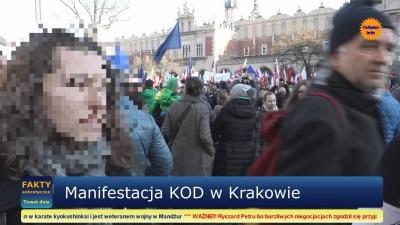 Manifestacja KOD w Krakowie, 19-12-2015, wersja De Luxe